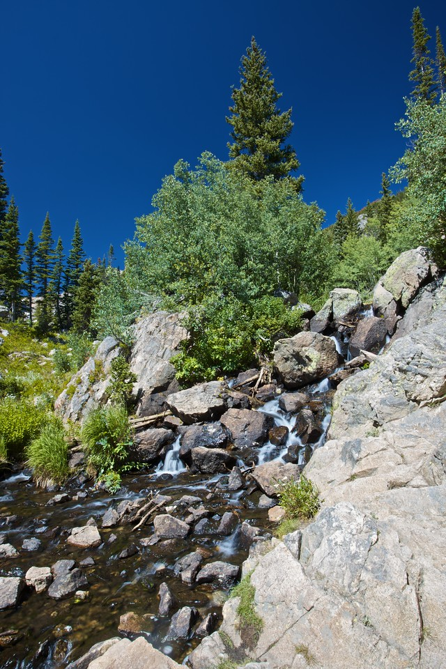 A stream in the Rocky Mountain National Park.