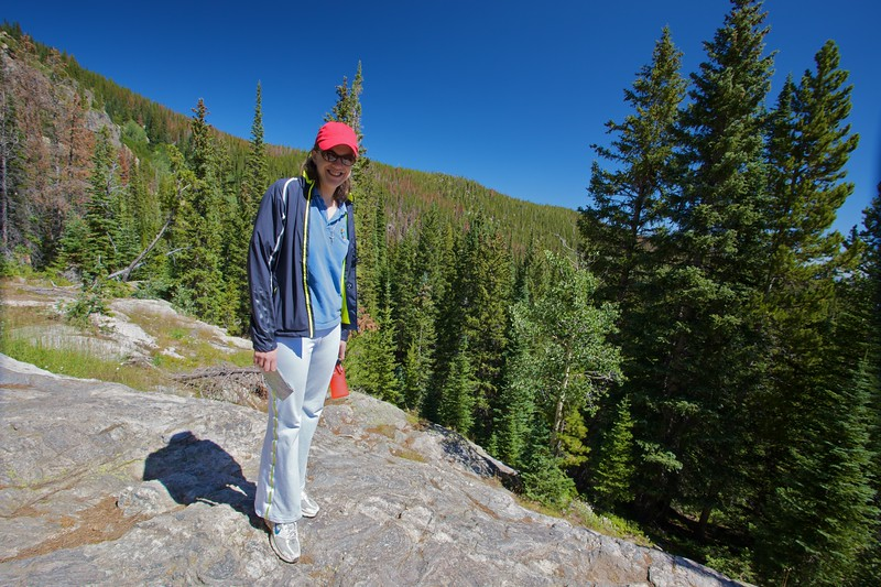 Elizabeth in the Rocky Mountain National Park.