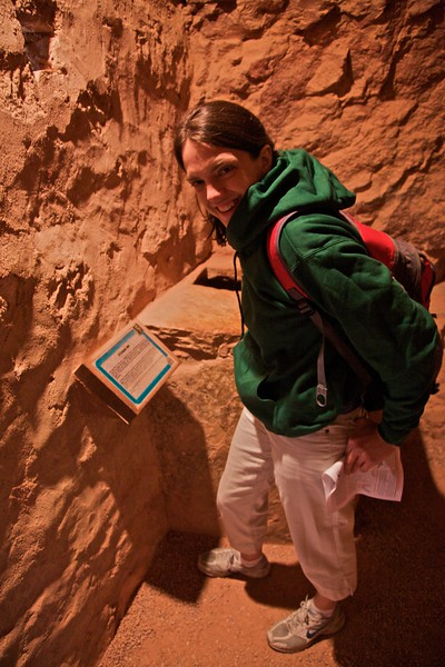 Elizabeth at the Manitou Cave Dwellings.