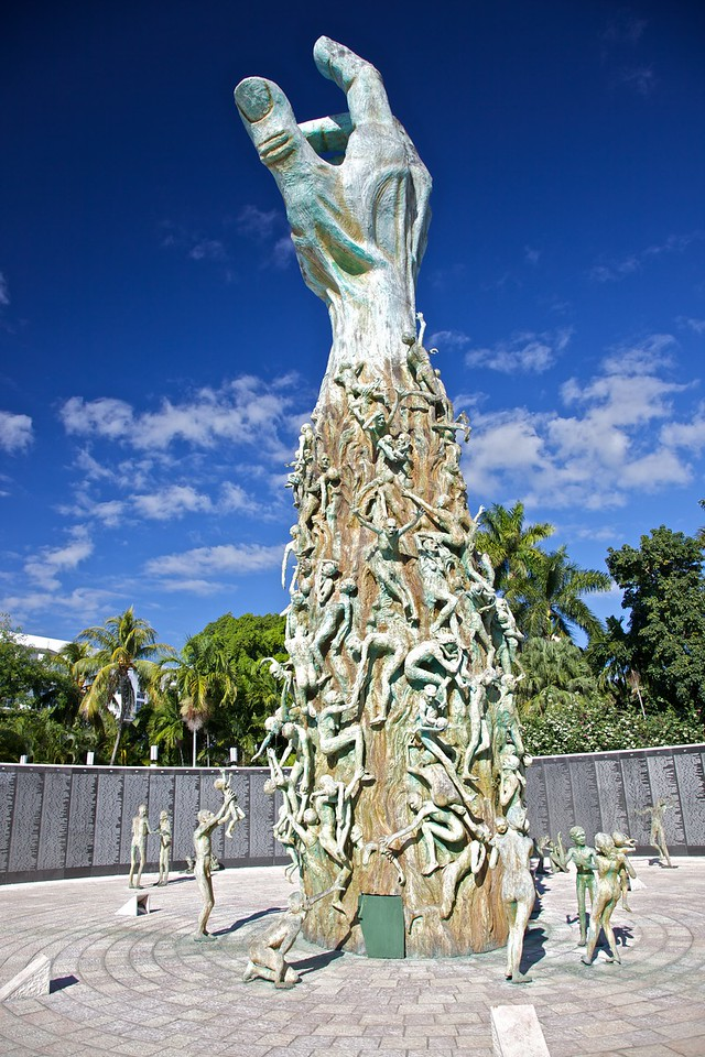 "The main structure of the <a href=""http://en.wikipedia.org/wiki/Holocaust_Memorial_on_Miami_Beach"" title=""Holocaust Memorial on Miami Beach - Wikipedia, the free encyclopedia"">Holocaust Memorial on Miami Beach</a>."