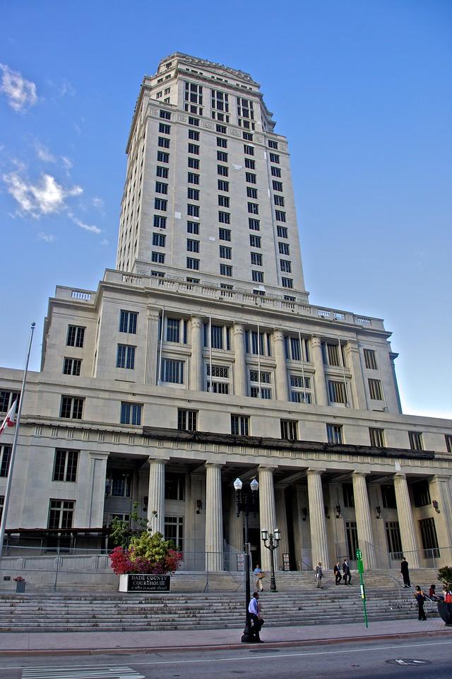 The Dade County Courthouse in Miami.