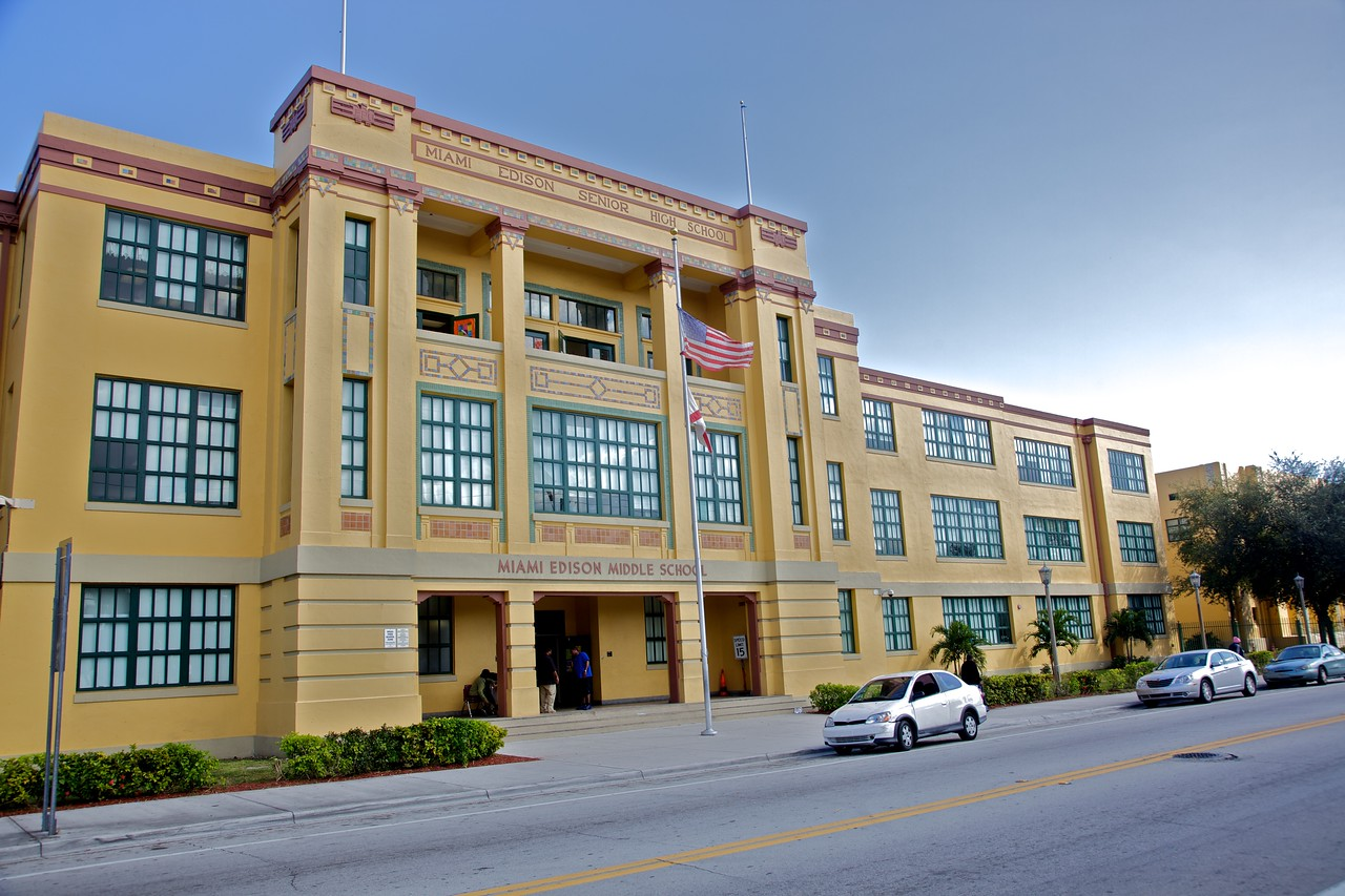 An Art Deco school in Miami.