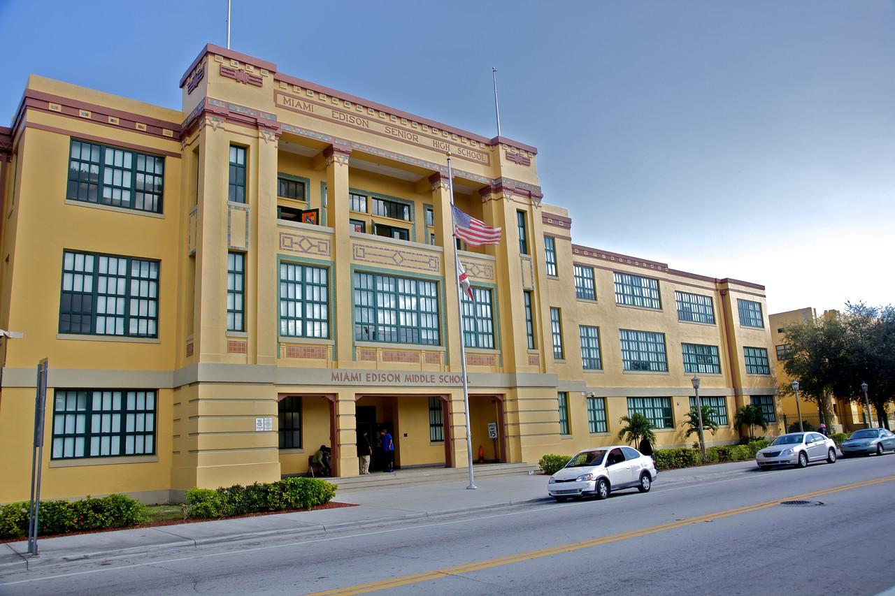 An Art Deco school in Miami.