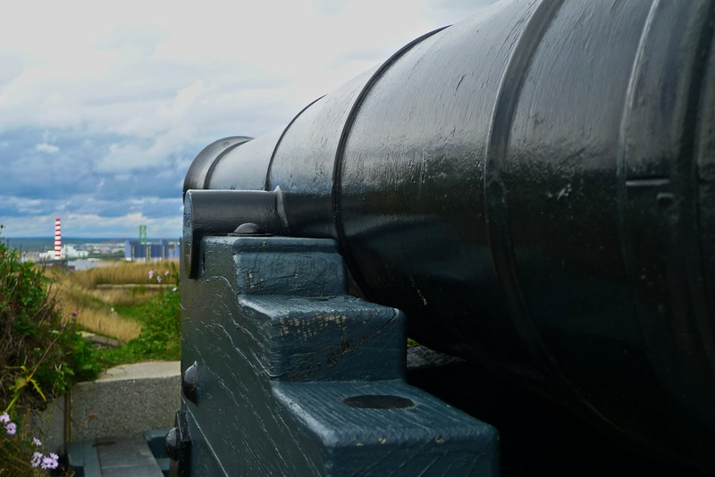 A canon at the Halifax Citadel, trained over the city.