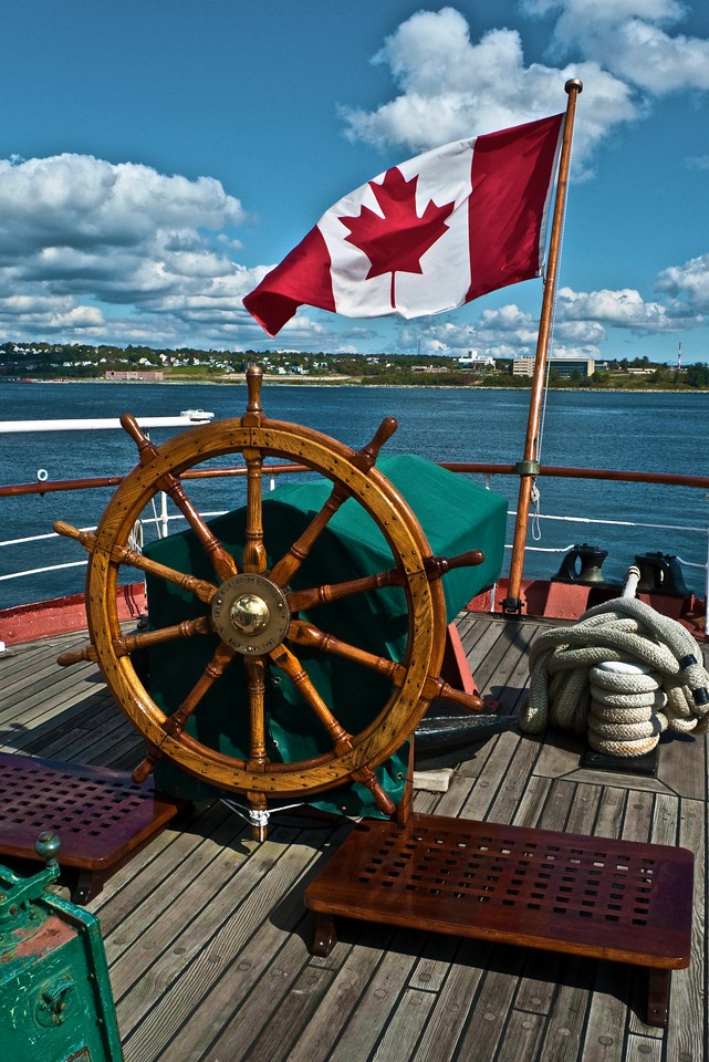 On-board the <em>CSS Acadia</em>, part of the permanent collectiion of the Maritime Museum of the Atlantic in Halifax.