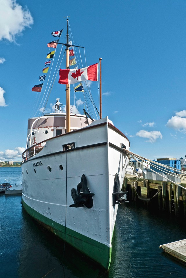 The <em>CSS Acadia</em>, part of the permanent collection of the Maritime Museum of the Atlantic in Halifax.