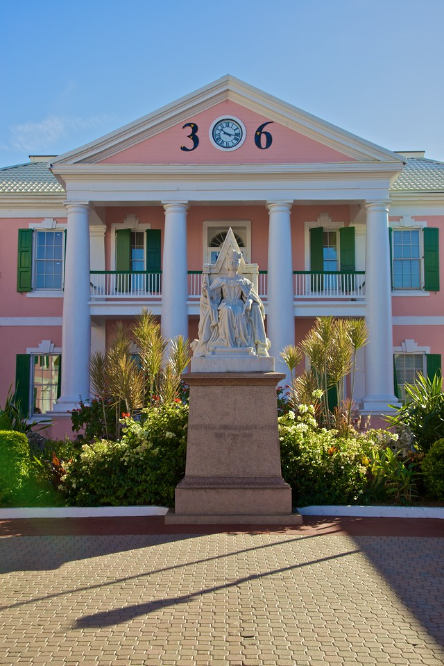 A statue of Queen Victoria in Nassau.