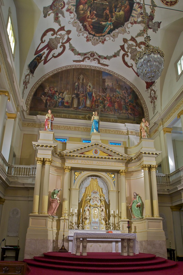 The sanctuary of St Louis' Cathedral in New Orleans.
