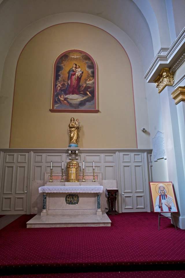 The Lady Chapel of St Louis' Cathedral in New Orleans. The icon of St John Vianney is there for the Year of the Priest.