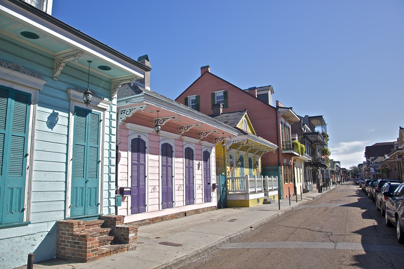 Houses in New Orleans.