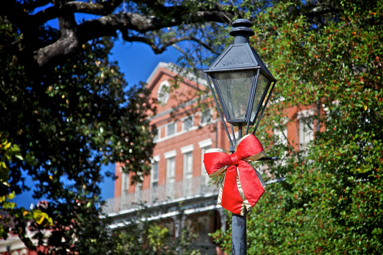 An early Christmas decoration in the French Quarter in New Orleans in November 2009.
