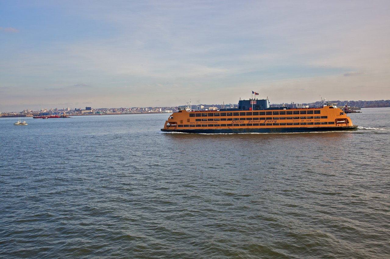 Passing another Staten Island Ferry.
