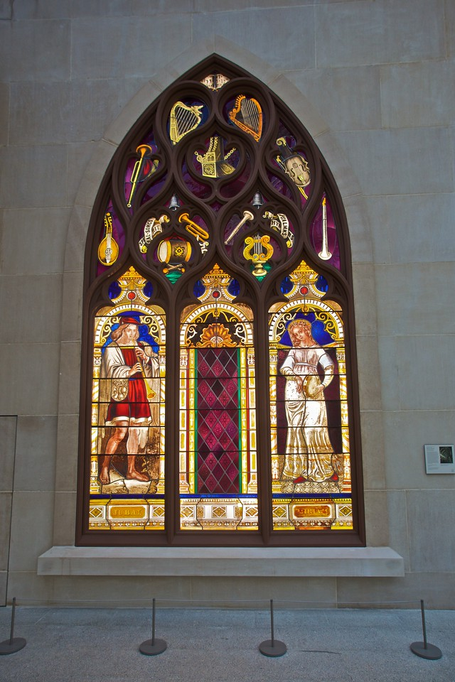 'Faith and Hope' (1867–9) by Henry E. Sharp (fl. c. 1850–c. 1897), designed for St Ann's Episcopal church in Brooklyn (now St Ann and the Holy Trinity church). (Met.)