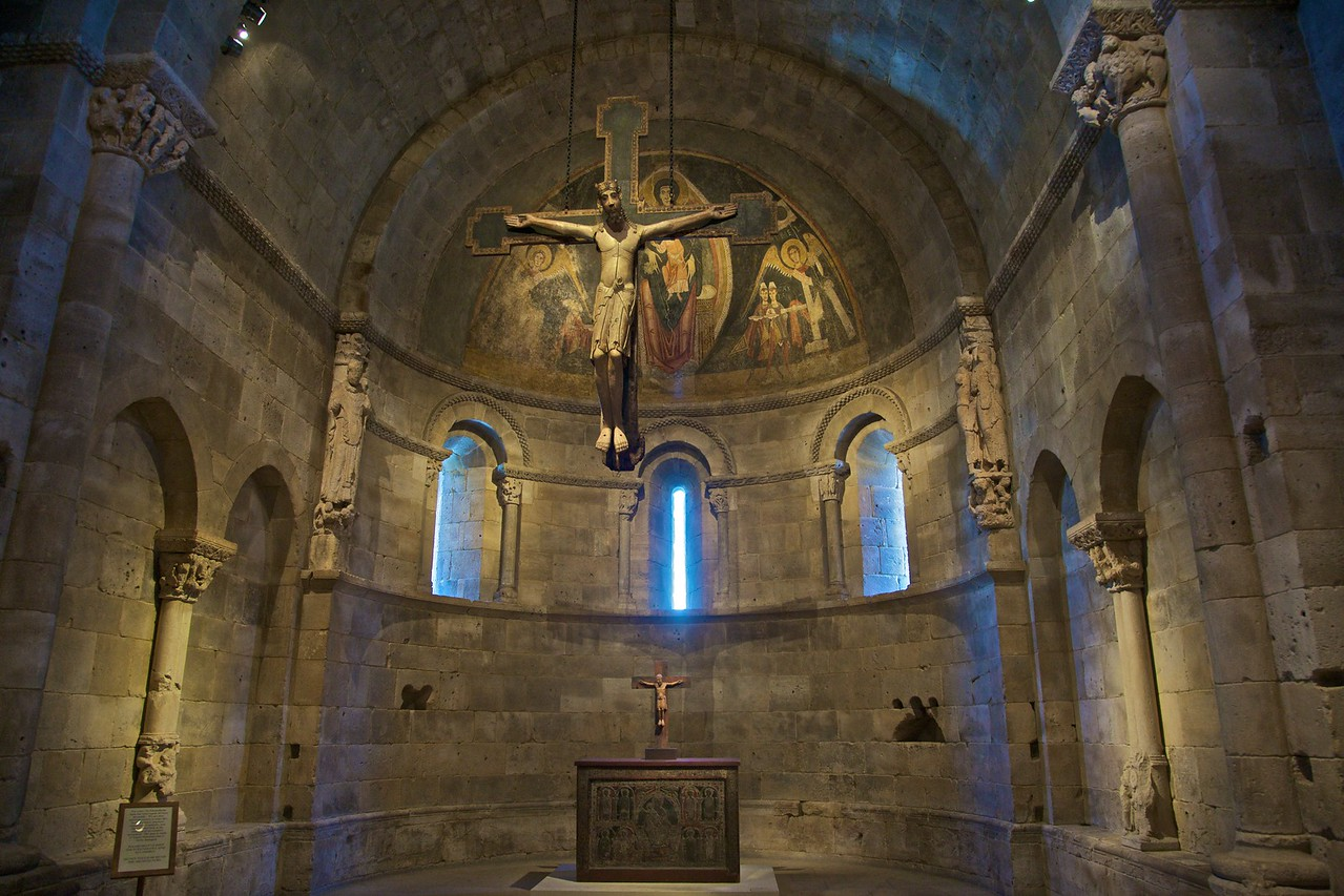 The Fuentidueña Apse (Spanish, c. 1175–1200), from the church of San Martín at Fuentidueña, near Segovia. (Cloisters)