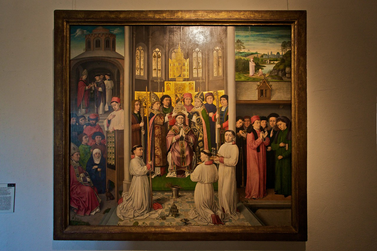 'Scenes from the Life of St Augustine' (c. 1490) by the Master of St Augustine (South Lowlands, Flanders, Bruges).