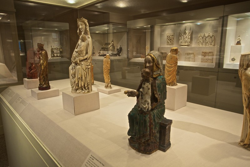 Statues of Our Lady in the medieval collection. (Met.)
