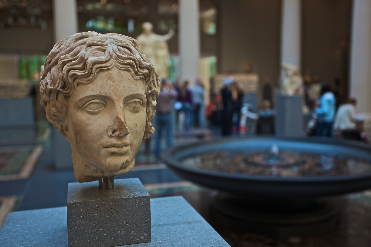 A head of a Classical statue. (Met.)