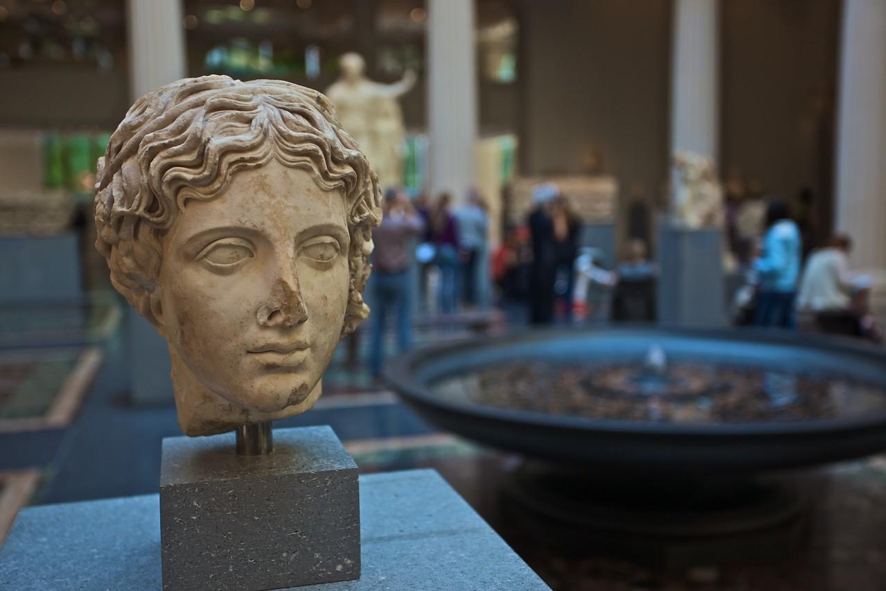 A head of a Classical statue. (Met.)