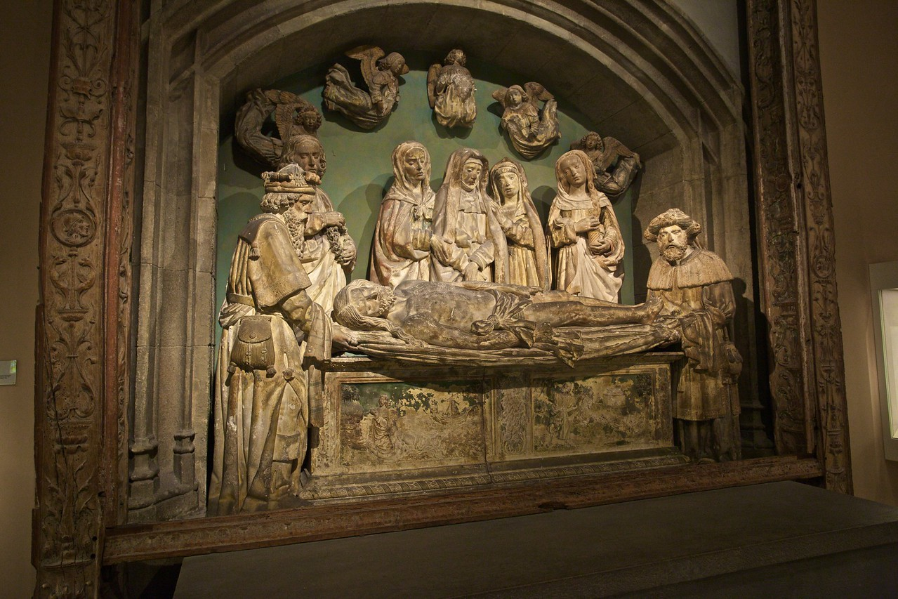'The Entombment' (French, c. 1515). (Met.)