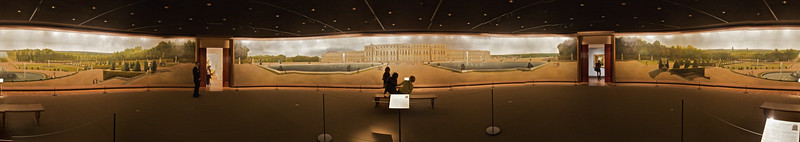 "'Panoramic View of the Palace and Gardens of Versailles' (1818–19) by John Vanderlyn (1775–1852). I have previously written about this painting <a href=""http://richardflynn.net/series/2009-travel/notebook/panoramic-view-of-the-palace-and-gardens-of-versailles/"" title=""Panoramic View of the Palace and Gardens of Versailles † North America Travel 2009 † Series † Richard Flynn :: no comment"">elsewhere</a>, where you can also <a href=""http://richardflynn.net/series/2009-travel/notebook/panoramic-view-of-the-palace-and-gardens-of-versailles/"" title=""Panoramic View of the Palace and Gardens of Versailles † North America Travel 2009 † Series † Richard Flynn :: no comment"">zoom in and out and drag the picture around in 360º</a>. (Met.)"