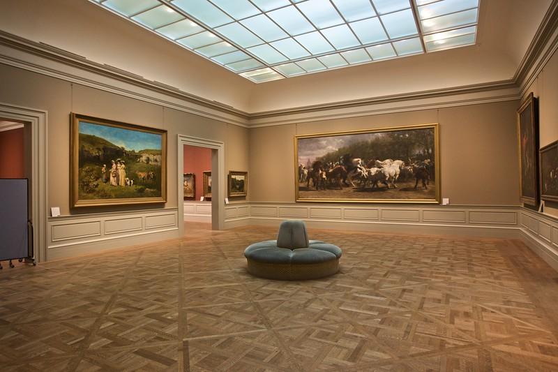 An empty gallery at the Met. (Met.)