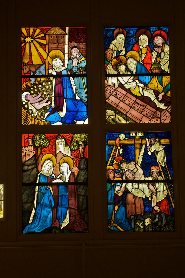Late-medieval stained glass. (Met.)