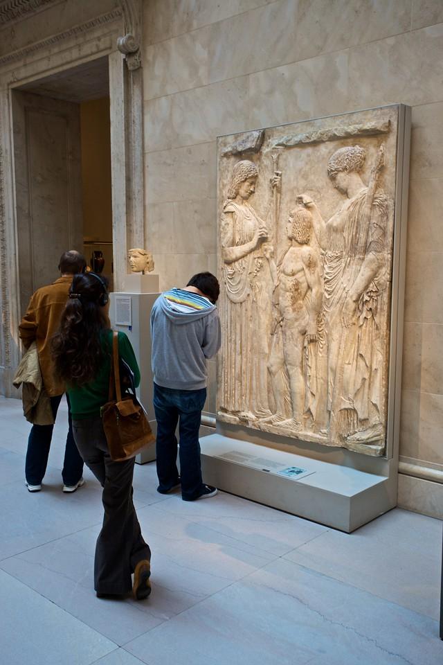 Visitors in one of the Classical galleries in the Met. (Met.)