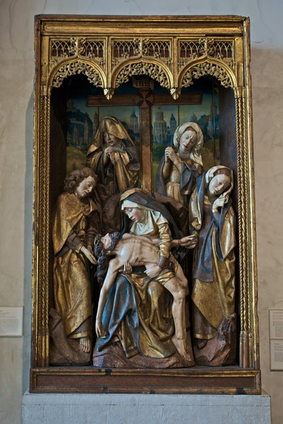 Depiction of the Lamentation from central Spain, c. 1480. (Cloisters)