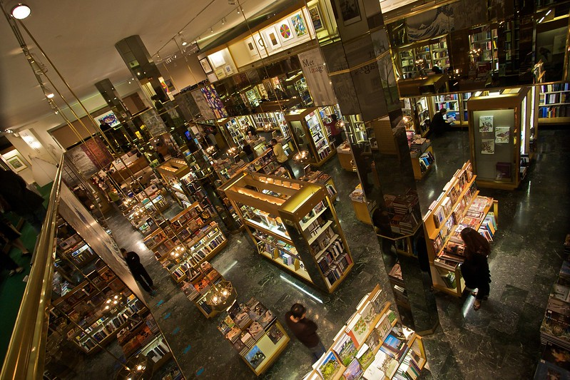 The books and cards section of the enormous Metropolitan Museum of Art Store. (Met.)