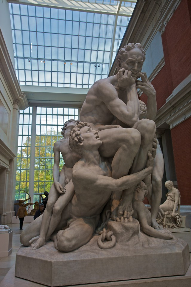 'Ugolino and his Sons'(1865–7) by Jean-Baptiste Carpeaux (1827–75). (Met.)