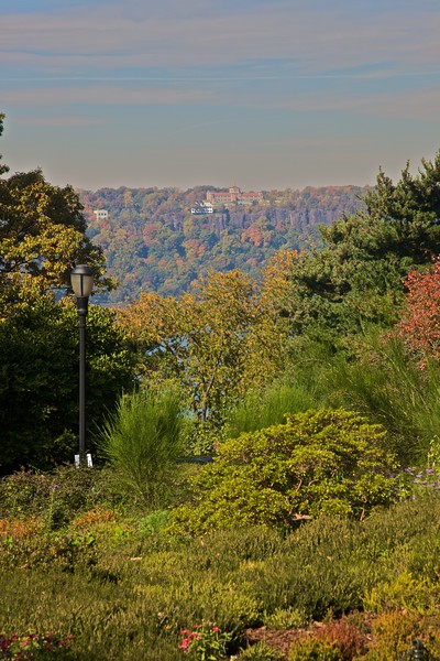 Looking from Fort Tryon Park (close to the Cloisters) over the Hudson River to New Jersey.