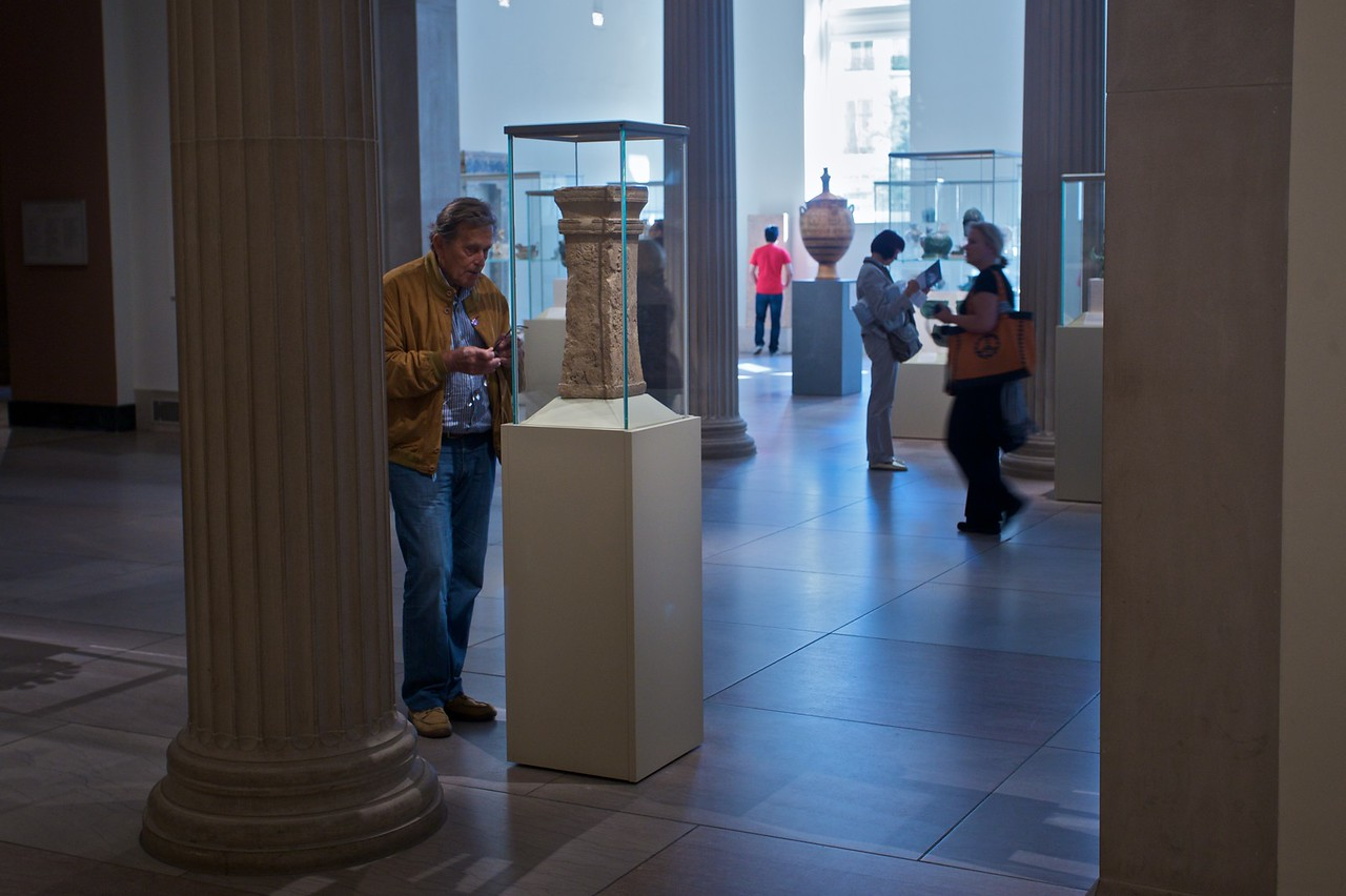 Visitors in one of the Classical galleries in the Met. (Met.)