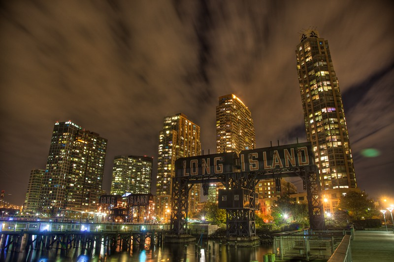 Gantry Plaza Park, Long Island City, Queens, New York, New York.