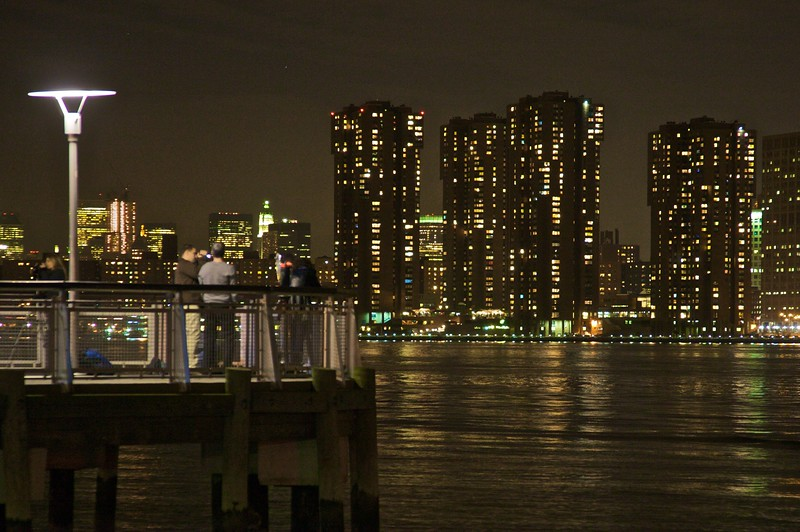Other photographers at Gantry Plaza Park in Long Island City.