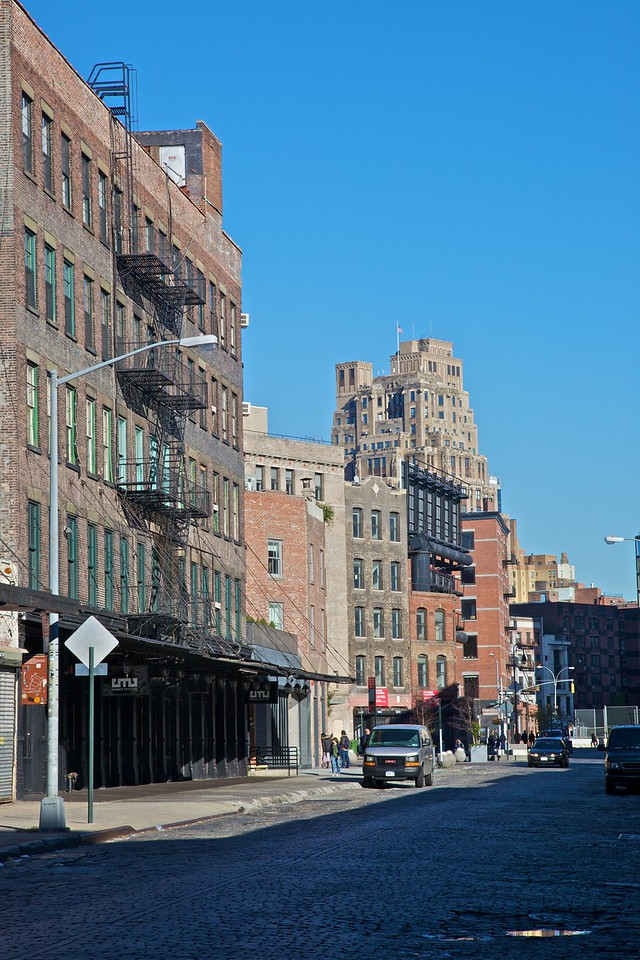 A cobbled street in the meatpacking district in Lower Manhattan.