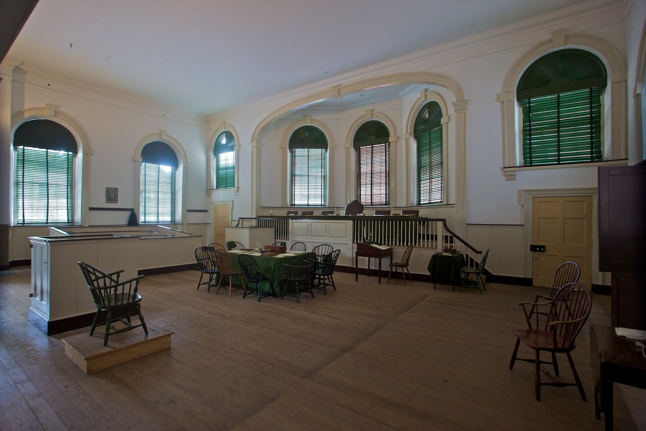 Inside Old City Hall, which also housed the Supreme Court before the foundation of Washington, D.C.