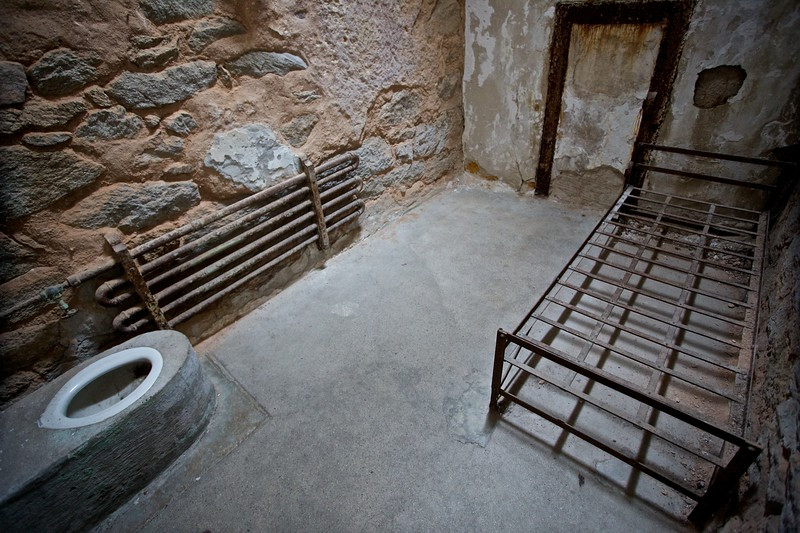 A marginally restored cell in the East State Penitentiary.