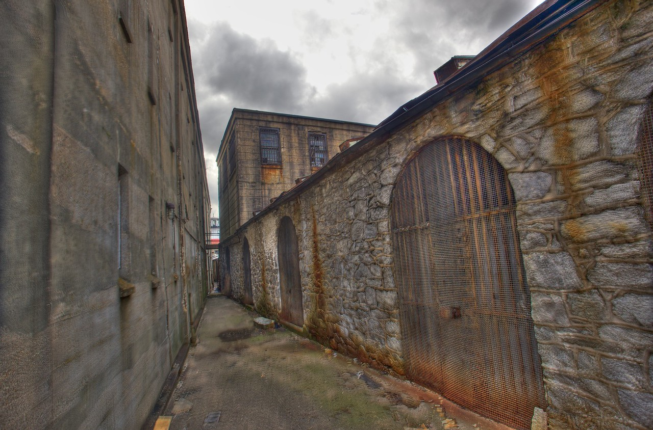 Outside one of the wings of the East State Penitentiary.