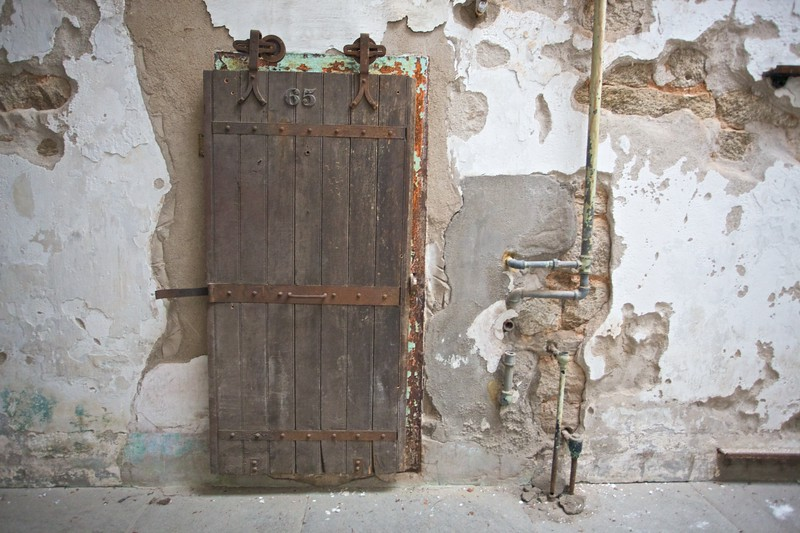 A door in the East State Penitentiary.
