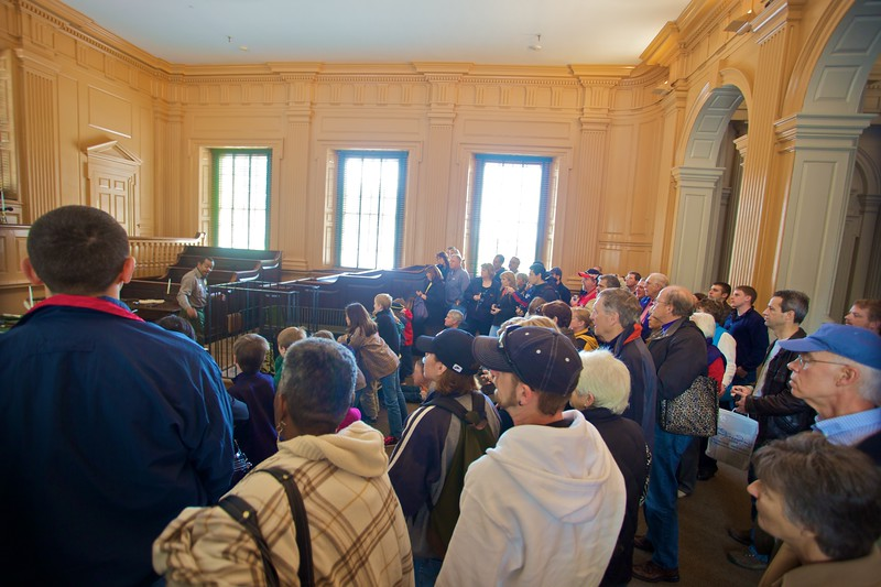 My tour group in Independence Hall.