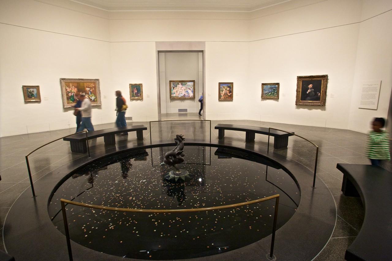 Inside the Philadelphia Museum of Art.