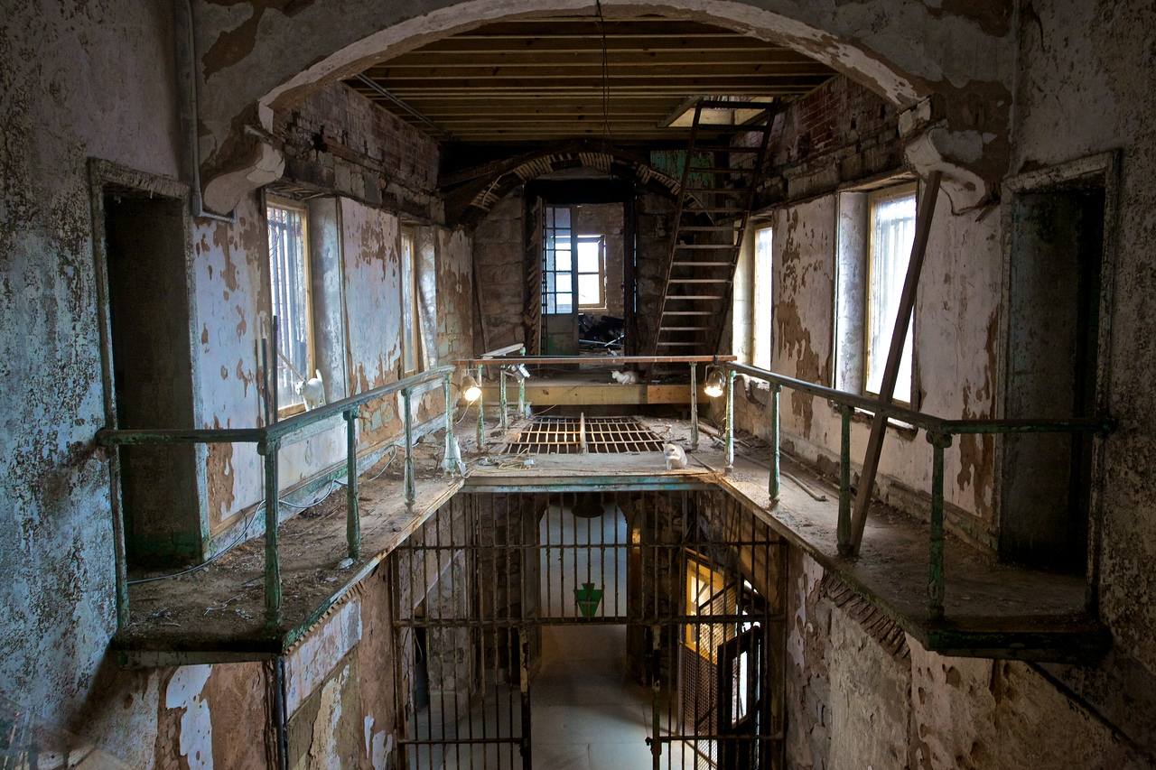 A wing of the East State Penitentiary in a state of 'preserved ruin'.