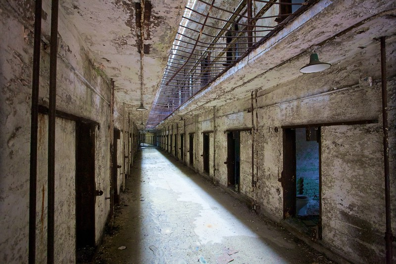In the East State Penitentiary.