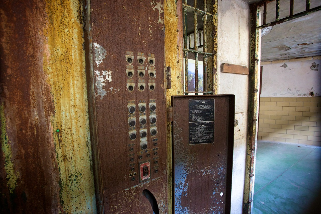 Switches for the electric chair in the East State Penitentiary.