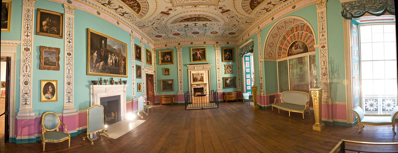Inside the Philadelphia Museum of Art: the drawing-room from Lansdowne House in London (c. 1766–75), designed by Robert Adam (1728–92).