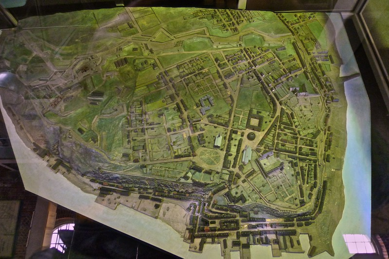 This scale model of the city of Quebec was originally put together in 1806–8, and was subsequently added to and later restored. It is now in the museum of the Parc de l'Artillerie in Quebec itself.