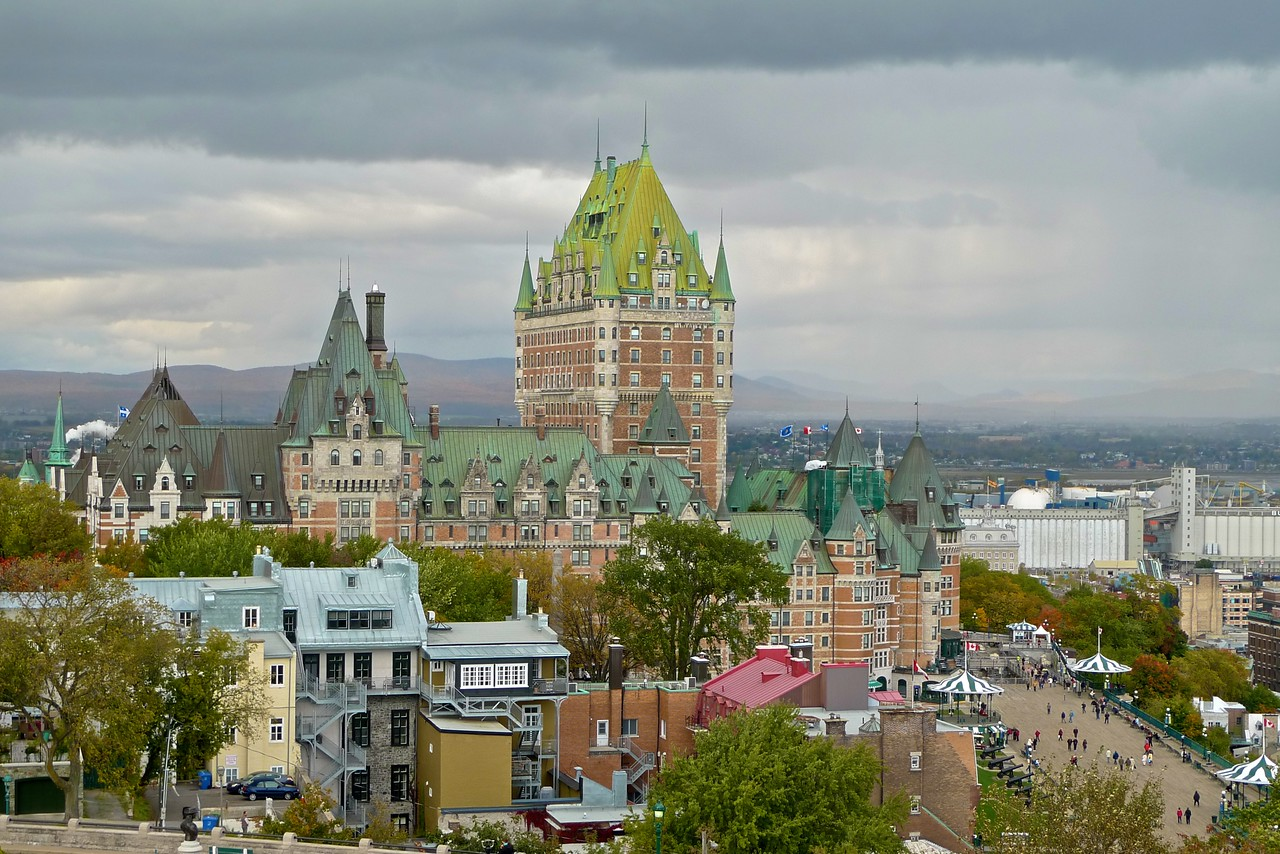 The Château de Frontenac, as seen from the Quebec Citadel.