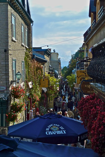 A street in Quebec.