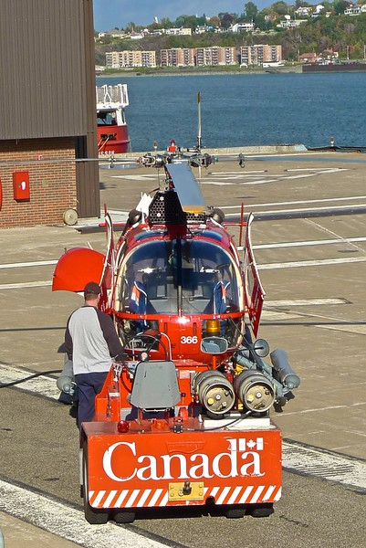 A helicopter of the Canadian coastguard at Quebec.