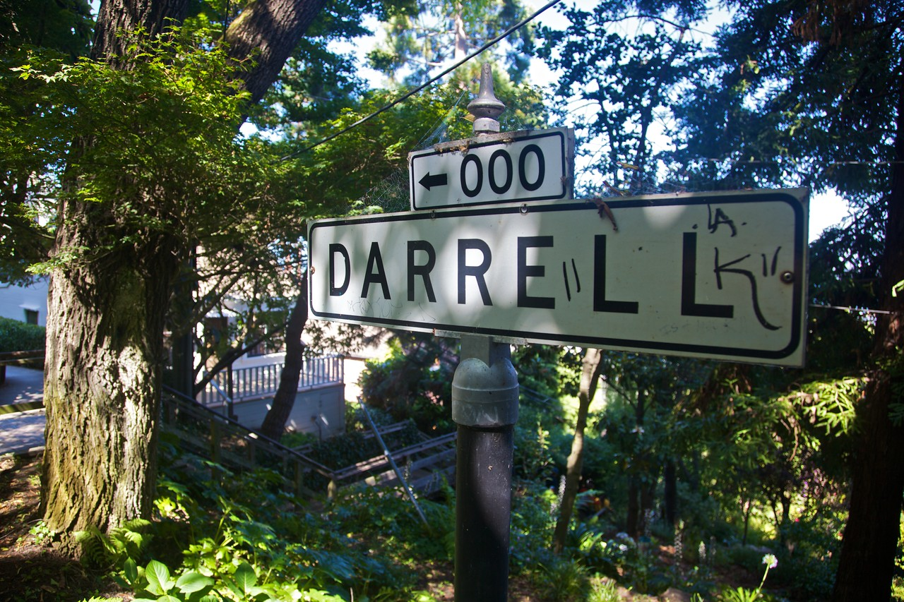 This residential street in an inner San Francisco neighbourhood is in fact more of a wooded path.